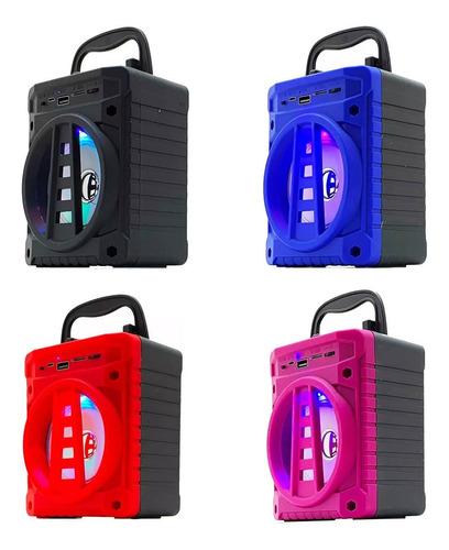 mini caixa de som portátil grasep al-301 bluetooth fm usb sd