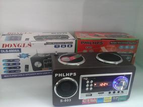 Caixa De Som Portátil Dls 611 Mp3, Usb, Cartão Mmd, Radio Fm