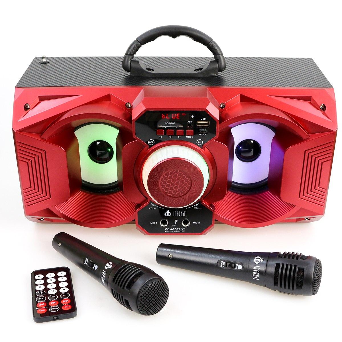 mini caixa som bluetooth portátil m602 caixinha 2 microfones. Carregando  zoom. a4bf0d5e5af