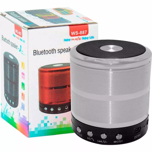 mini caixa som  bluetooth wireless mp3 fm sd usb
