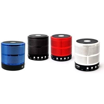 mini caixa som portátil bluetooth mp3 fm sd usb + carregador