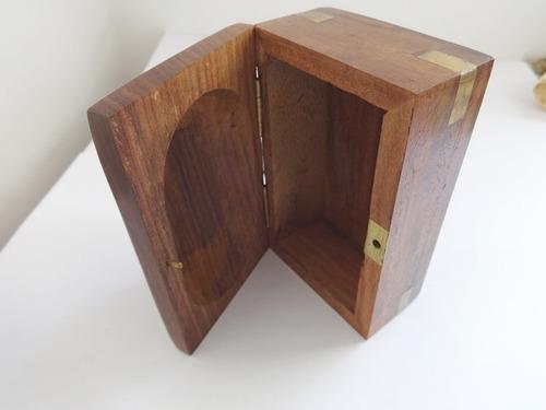 mini caixa turca estrelas madeira maciça e latão feita mão
