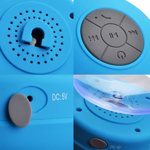 mini caixinha som bluetooth portatil prova água ventosa full