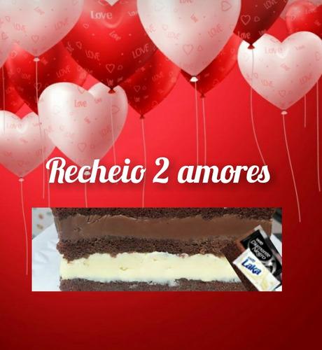 mini cake + brigadeirao romântico