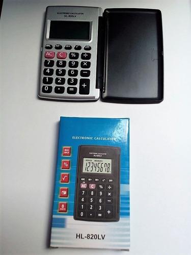 mini calculadora de bolsillo 8 digito con tapa isc