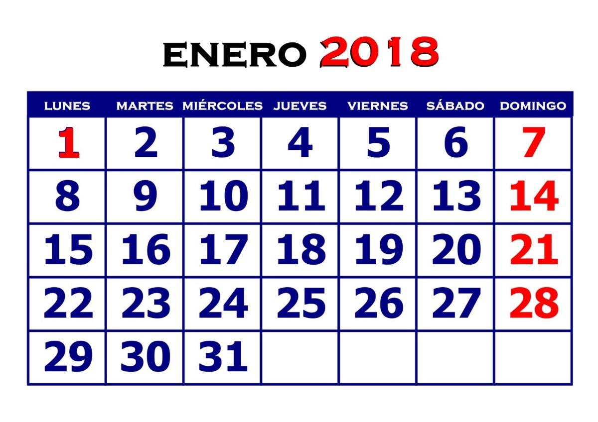 Calendario Diciembre 2018 Chile.Mini Calendario 2018 Taco