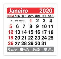 mini calendário 2019 bloco para ímã lembraninhas 100 unid.