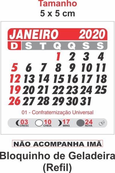 Calendario 2020 Com Feriados Para Impressao.Mini Calendario Geladeira Destacado 1000 Blocos Barato