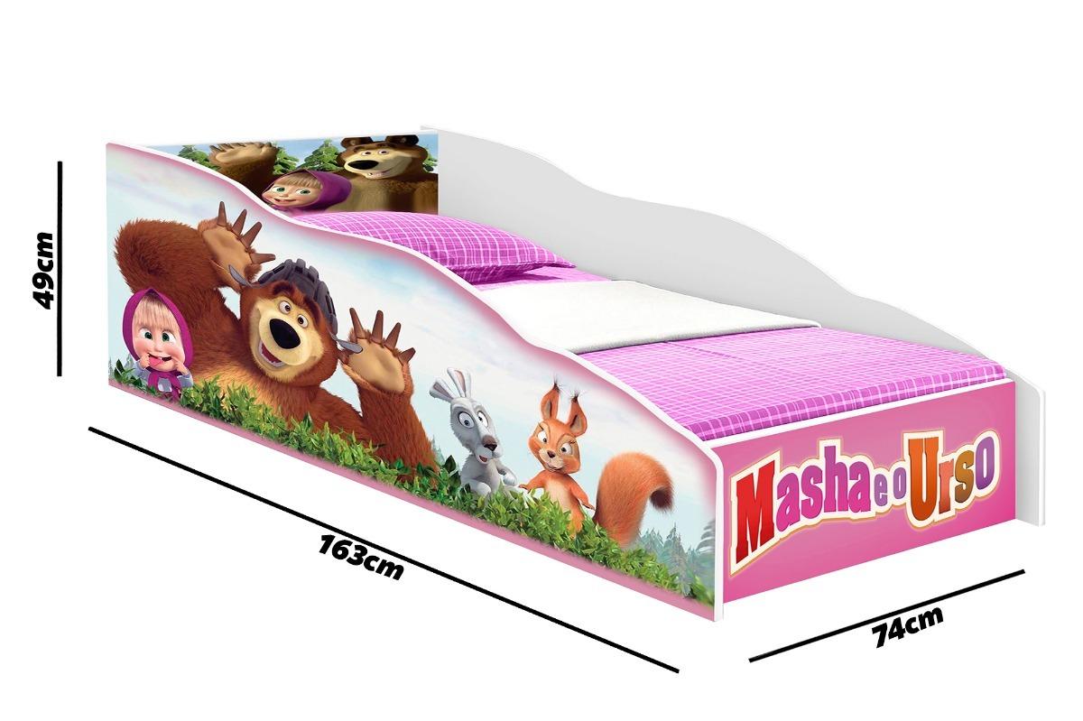 7d78f78935 Mini Cama Carro Infantil Masha E O Urso