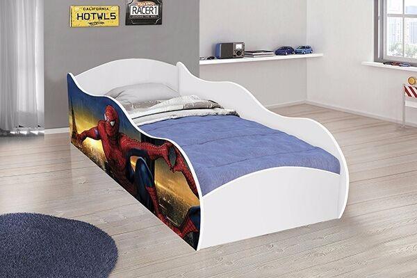 Mini cama infantil carro homem aranha r 279 00 em - Cama coche infantil ...