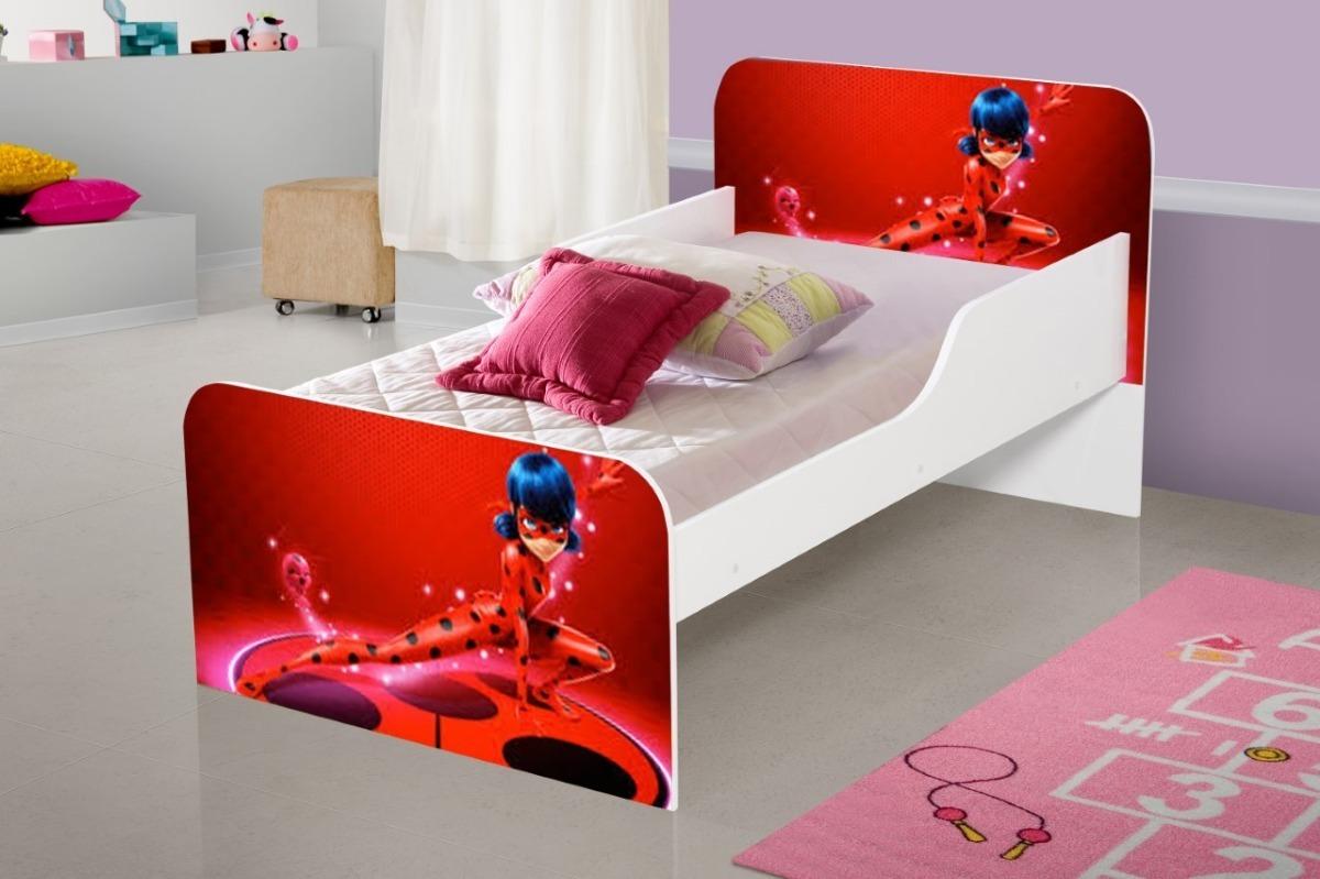 Mini cama infantil ladybug r 159 00 em mercado livre for Camas 2 por 2