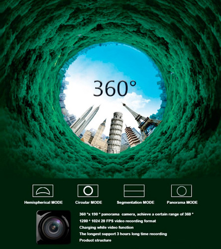 mini camara 360 cube cubo deportiva wifi hd video grados