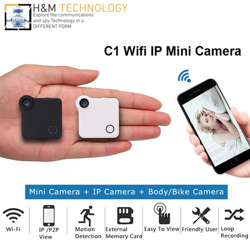 mini cámara espía c1 hd 720p / wifi p2p deteccion movim