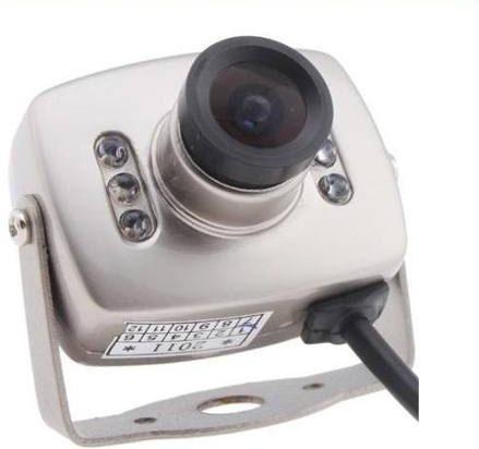 mini camara espia con audio cmos 6 led 3.6mm