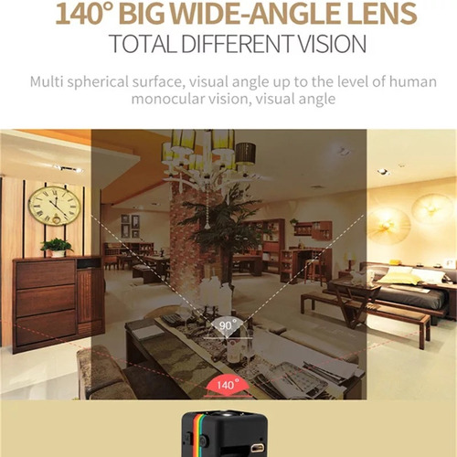 mini cámara espia hd 1080 p sensor nocturno más bateria
