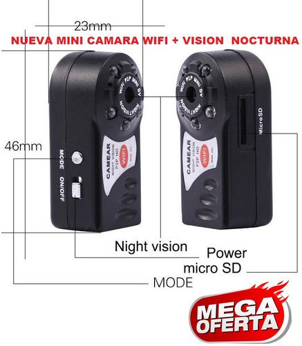mini cámara espia hd filmadora grabadora wifi vdr + obsequio