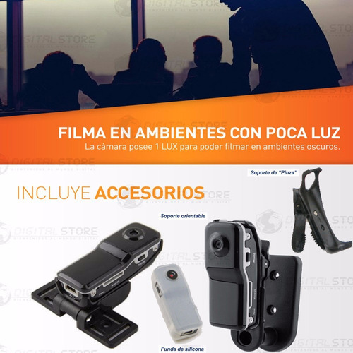 mini camara espia oculta seguridad dvr hd microfono + acces