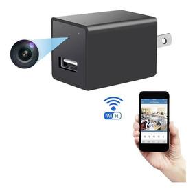 c521e22e9 Mini Camara Espia Oculta Wifi Ip Cargador Usb Full Hd App