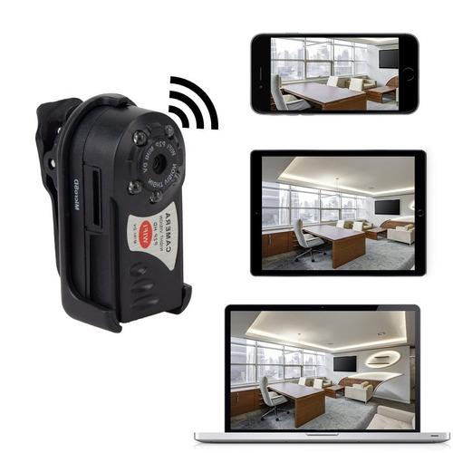 mini camara espia q7 hd wifi p2p vision nocturna monitoreo r