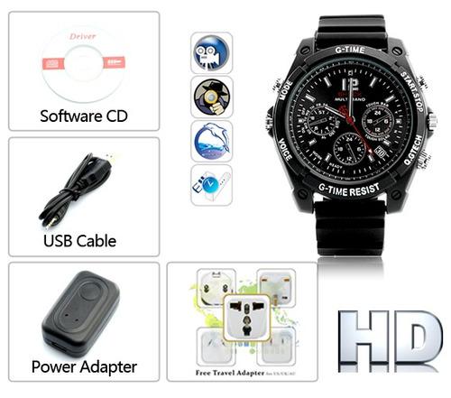 431653fc5b9f Mini Camara Espia Reloj Infrarojo Vision Nocturna 12 Mp Sony ...