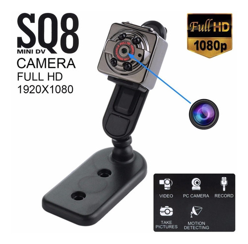 mini camara espia sq8 full hd 1080 12mpx.