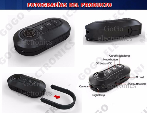 mini camara espia video foto fulhd control alarma 1080p sony