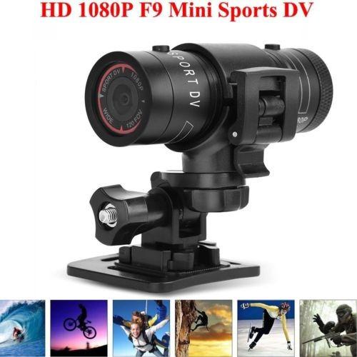 mini cámara f9 deportiva para montaje en cascos y bicicletas