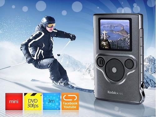 mini cámara filmadora sumergible de bolsillo kodak zm1