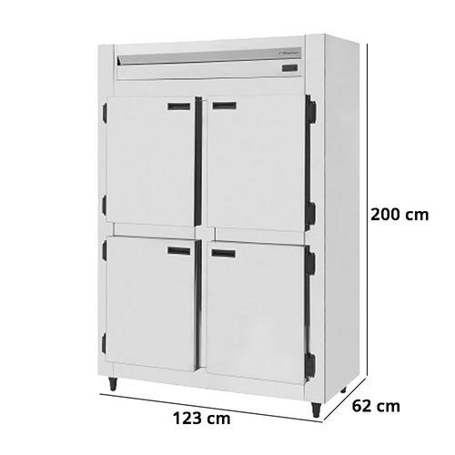 mini camara fria industrial inox 4 portas 750 litros kofisa