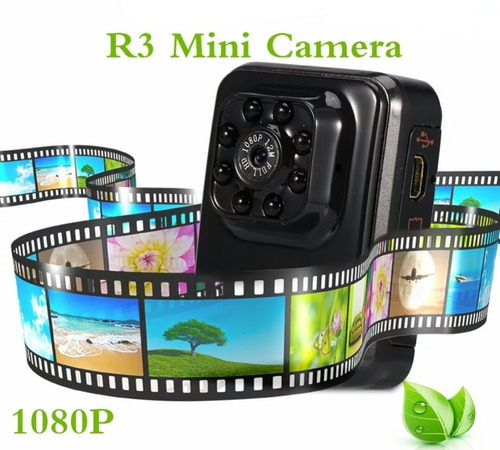 mini cámara fullhd 1080p y larga duración de batería