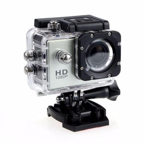 mini cámara sports sumergible 30m full hd 1080p silver