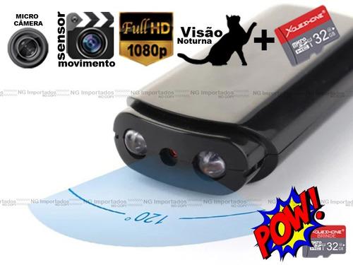 mini camera camuflada pendrive espiã video audio voz detc hd
