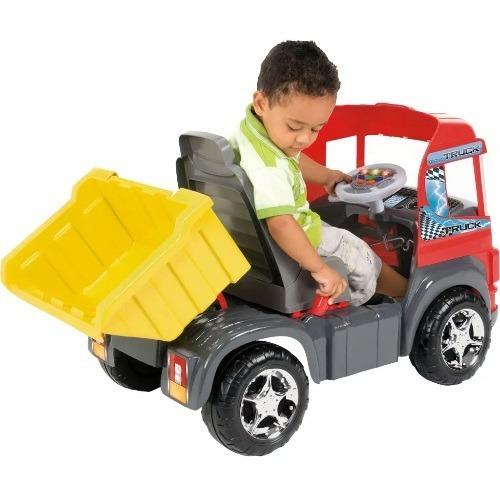 mini caminhao infantil truck pedal vermelho magic toys