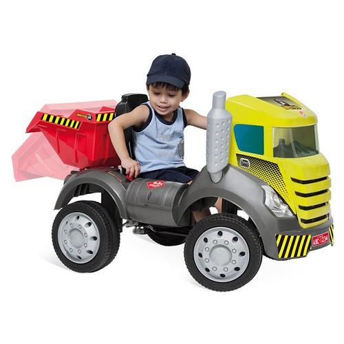 mini caminhão a pedal p/meninos brutus caçamba truck 20kg