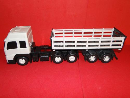 mini caminhão brinquedo bitrem carroceria graneleiro volvo