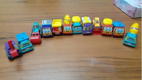 mini camiones plásticos de construcción