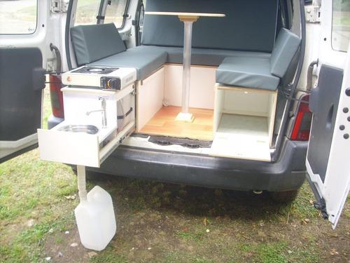mini camper deluxe para partner berlingo y kangoo!!