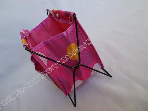 mini canasto porta papeles lapices cosmeticos brochas regalo