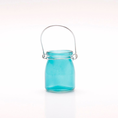 mini candelabro porta vela de vidrio varios colores