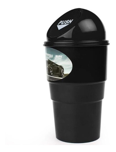 mini caneca de basura para vehiculo (portavasos)