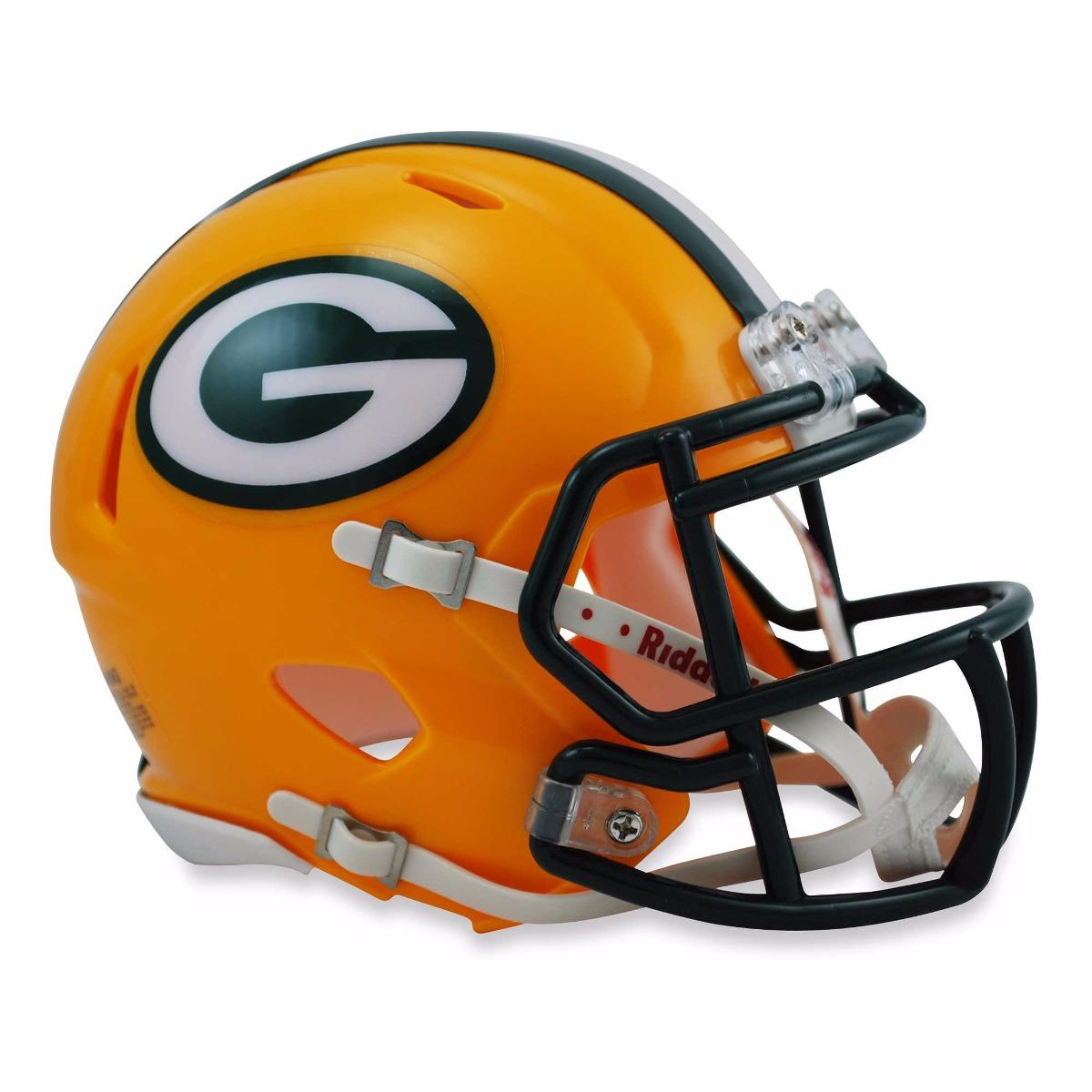 bced30e9bb Mini Capacete Futebol Americano Nfl - Green Bay Packers - R  299