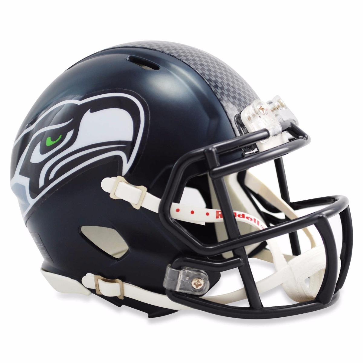 c771baf44 Mini Capacete Futebol Americano Nfl - Seattle Seahawks - R  280