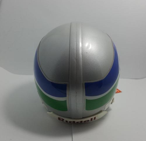 f24ef455dde9e Mini Capacete Futebol Americano Nfl - Seattle Seahawks Prata - R ...