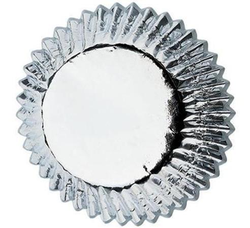 mini capacillos pastelería cupcakes plateado metalizado