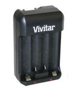 mini cargador compacto vivitar aa, aaa