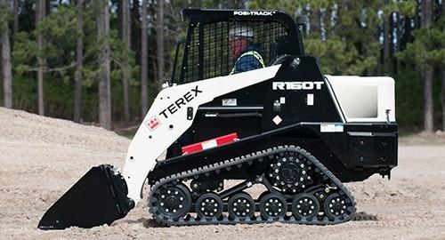 mini cargadora sobre oruga terex r160t