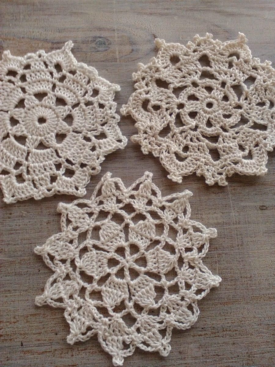 Mini Carpetitas Apliques Tejidos Crochet Hilo Macrame 12000