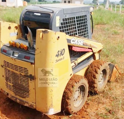 mini carregadeira case 410 série 3 - ano 2010 - c/ 4.150 hrs