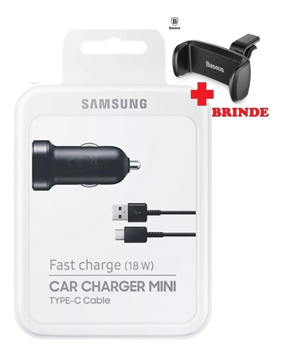 Mini Carregador Veicular Original Samsung Fast Charge S8 S9
