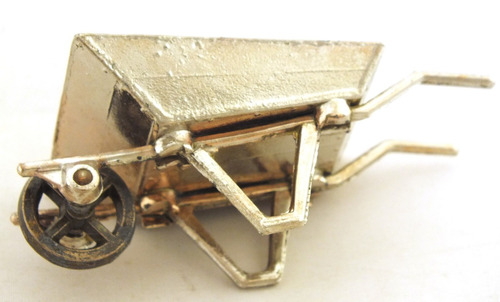 mini carrinho de mão antique em metal b2270